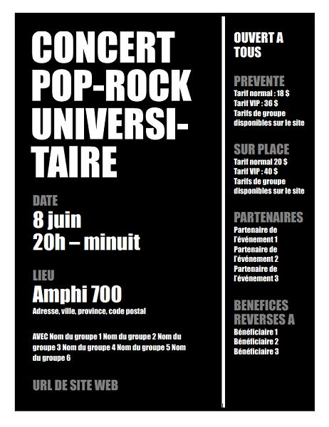 Flyer (dark background)