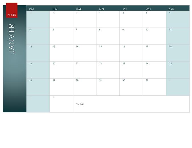 Any year calendar (Ion theme)
