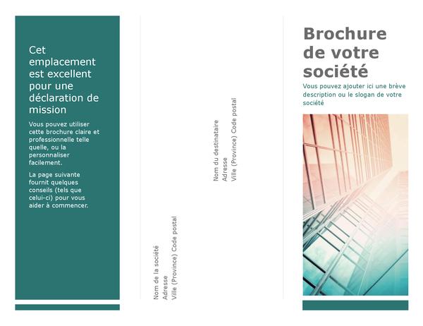 Tri-fold brochure (blue)