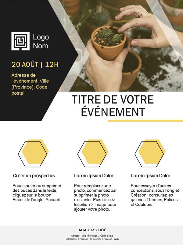 Prospectus petite entreprise (conception dorée)