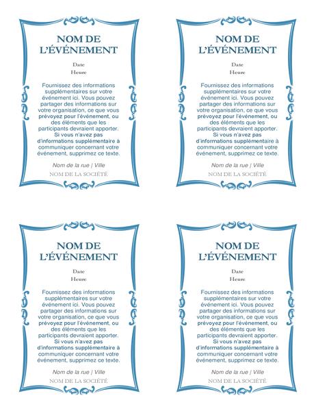 Event invitations (4 per page)