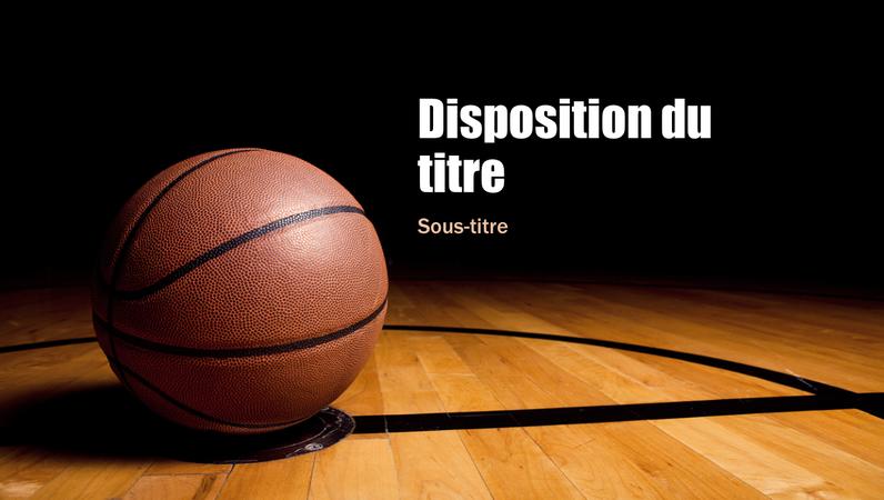 Présentation de basket-ball (grand écran)