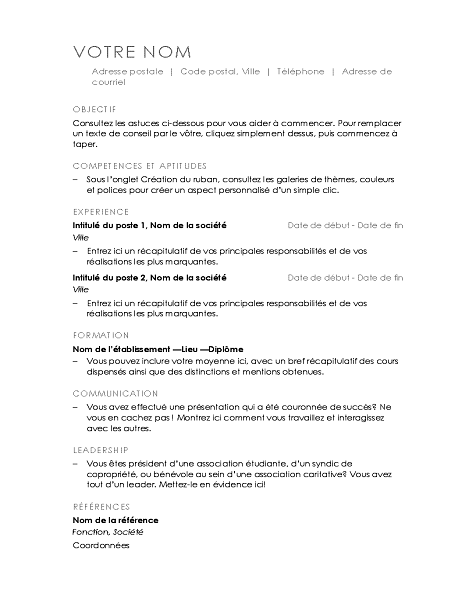 Resume (Minimalist design)