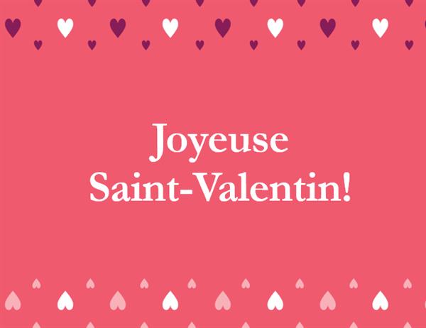 Carte de Saint-Valentin (pliable en quatre)