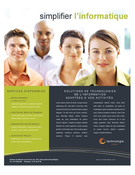 Technology business flyer