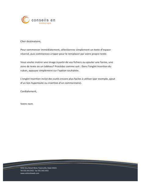Technology business letterhead
