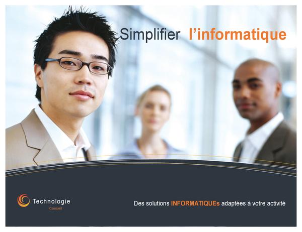Technology business poster (horizontal)