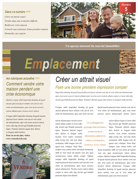 Real estate newsletter (4 pages)