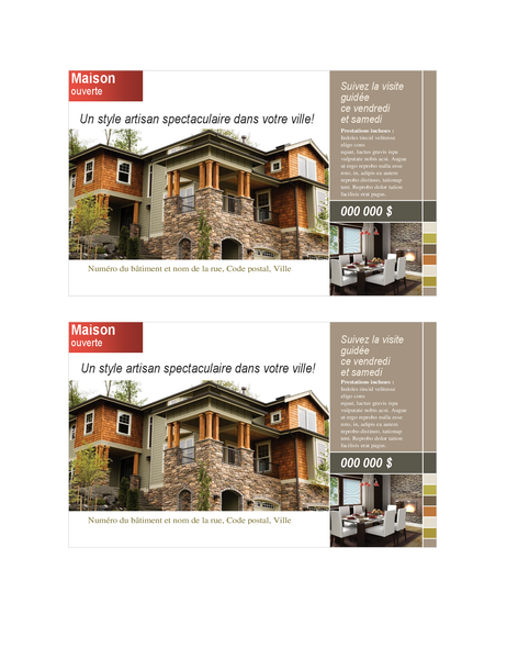 Real estate postcard (2 per page)