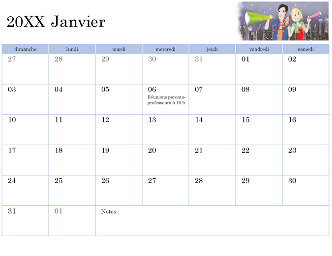 Illustrated academic calendar