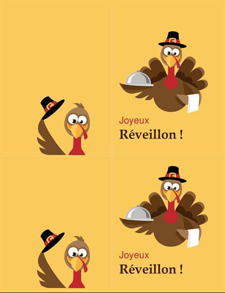 Cheerful turkey Thanksgiving card