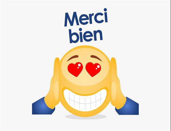 Emoji thank you card