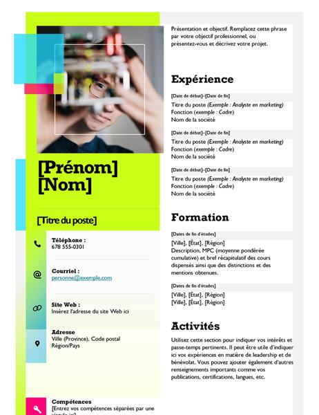 Sticky note resume