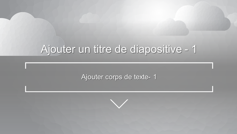 Diapositive de titre animée Nuages