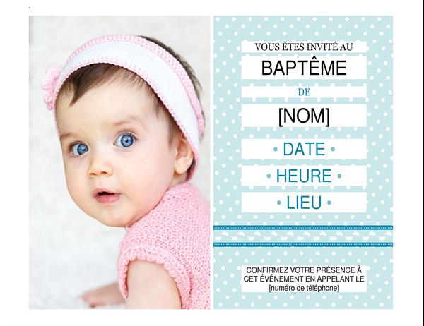 Photo baptism invitation