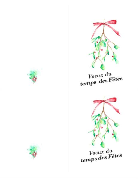 Mistletoe holiday card