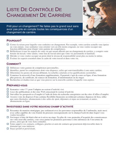 Career change checklist