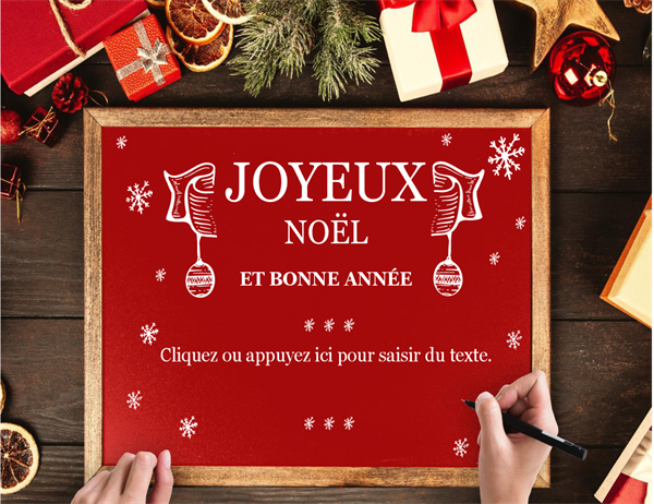 Wooden frame holiday card