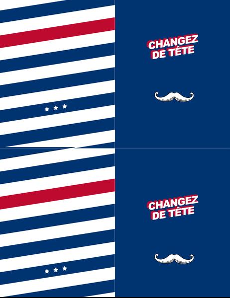 Carte de vœux Moustache rétro