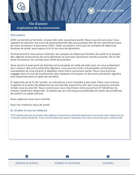 Benefits expiring letter healthcare