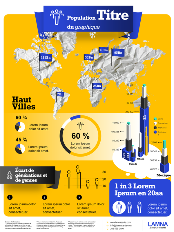 Population infographics poster