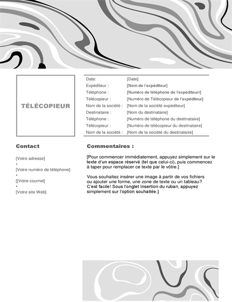 Swirl B&W fax cover