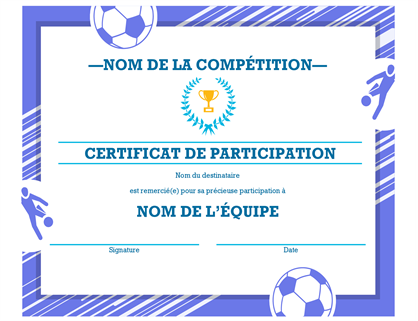 Four sports awards certificate