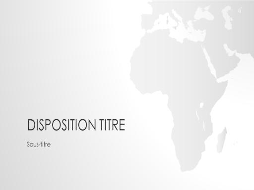 Présentation de la série Cartes du monde, Afrique (grand écran)