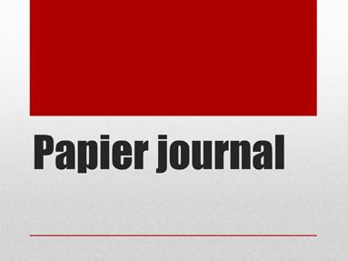 Papier journal
