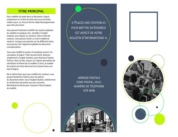 Brochure de fabricant de logiciels
