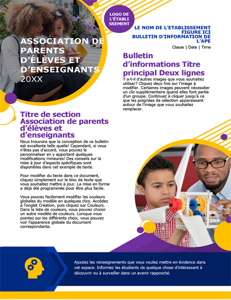 Bulletin d'information PTA