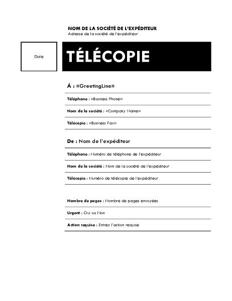 Publipostage d'une télécopie (thème Médian)