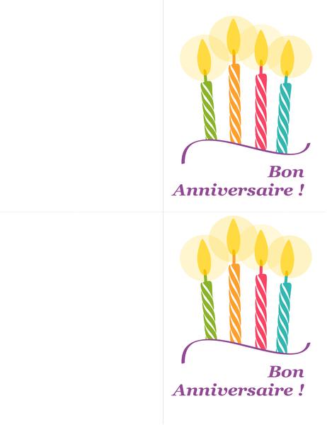 Cartes d'anniversaire (2par page)