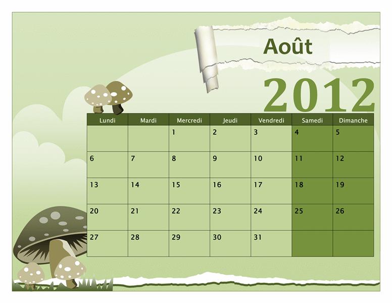 Calendrier scolaire 2012-2013 (lun-dim)
