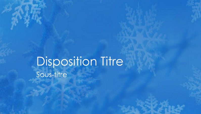 Diapositives de conception Flocons