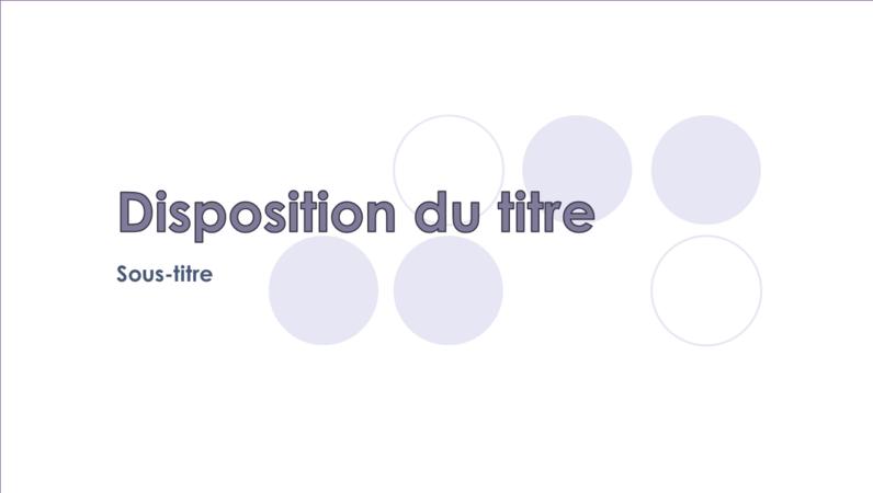 Diapositives conception Gouttes