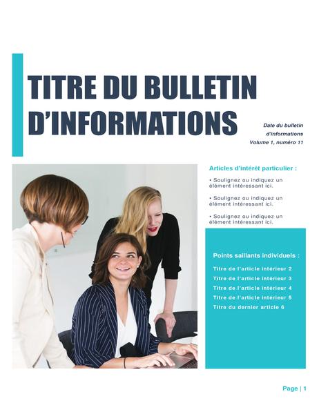 Bulletin (création Simple, 4 colonnes, 6 pages)
