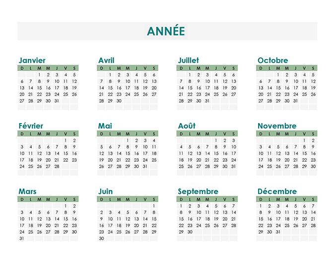 Créateur de calendrier (perpétuel)