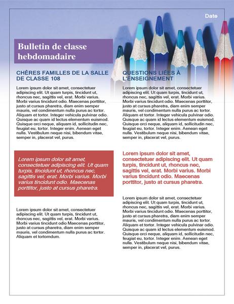 Bulletin de classe