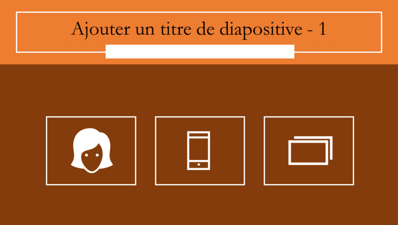 Diapositives animées avec infographie