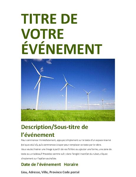 Prospectus d'événement (vert)