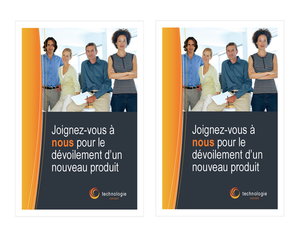 Invitation professionnelle technologique (2 par page)