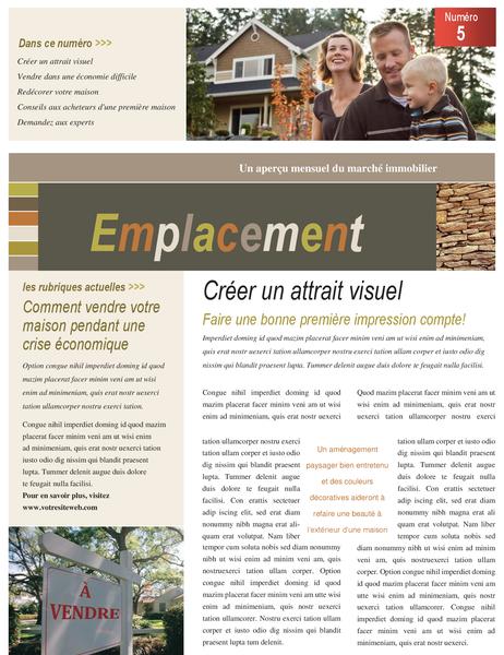 Bulletin d'informations immobilière (4 pages)