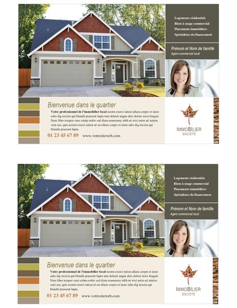 Prospectus immobilier (demi-page, 2 par page)
