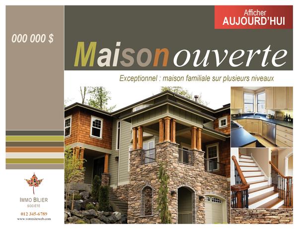Affiche immobilière (horizontale)