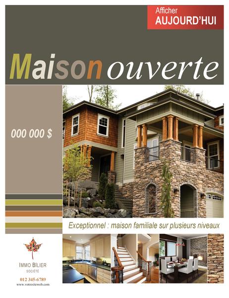 Affiche immobilière (verticale)