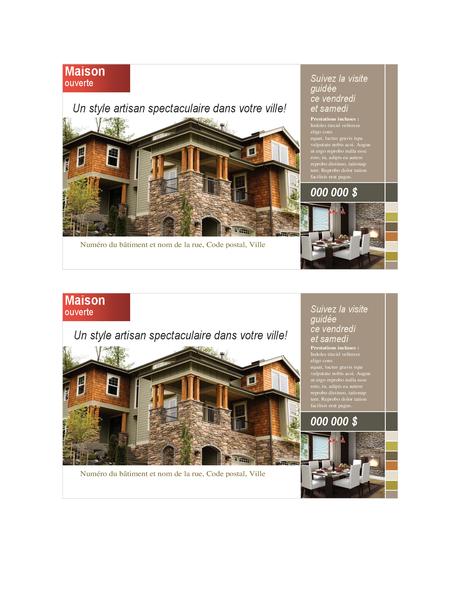 Carte postale immobilière (2 par page)