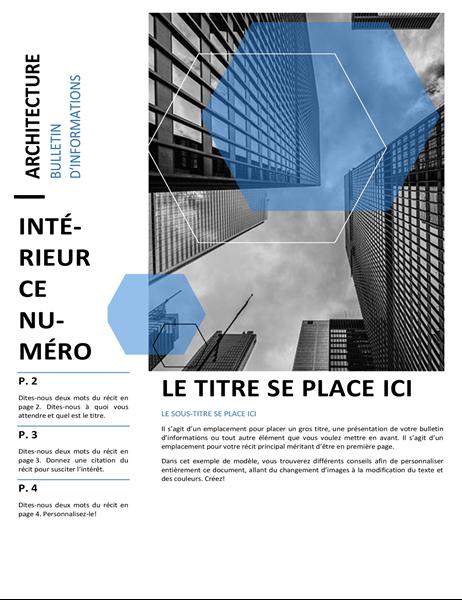 Bulletin d'informations d'architecture