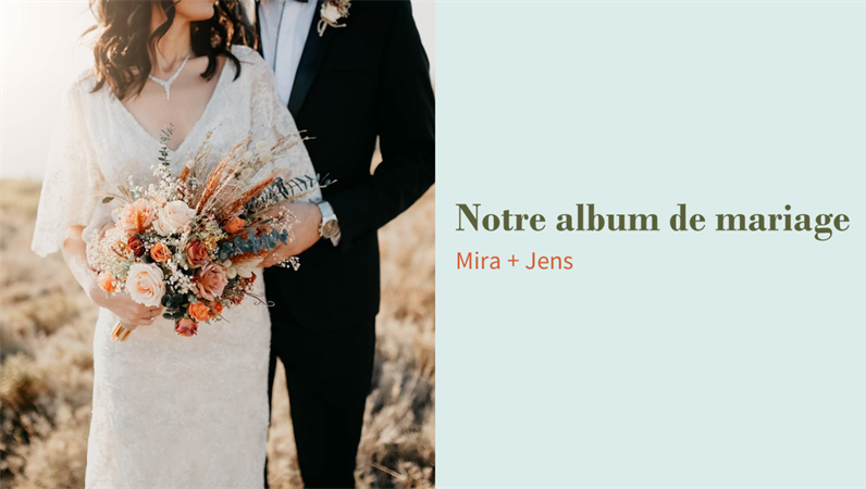 Album de mariage floral