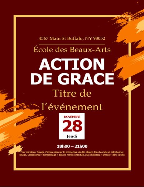 Invitation pour l'Action de grâces